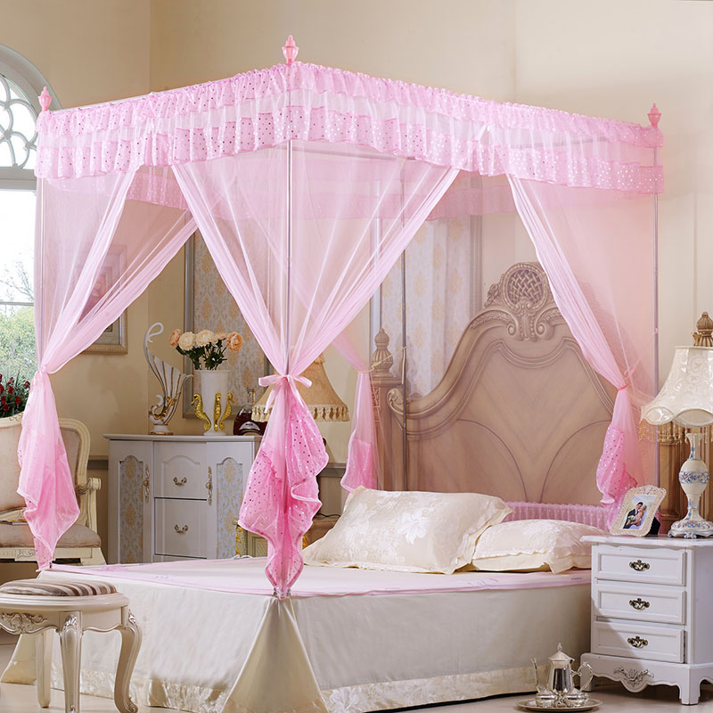 Double Bed Canopy aliexpress : buy palace mosquito net princess adult bed canopy