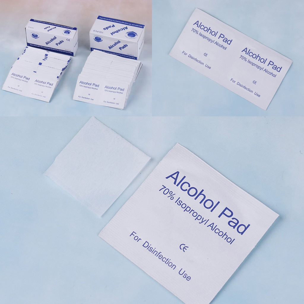JETTING 50/100pcs Alcohol Pads Swabs Cotton Pads Wipes Antiseptic Cleanser Cleaning Sterilization First Aid Home Use