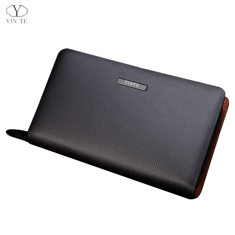 YINTE Mens Clutch Wallets Leather Long Wallets Men Silver Brown Bag Zipper Wallet Passport Purse Men Wallet Portfolio T2025-2YINTE Mens Clutch Wallets Leather Long Wallets Men Silver Brown Bag Zipper Wallet Passport Purse Men Wallet Portfolio T2025-2
