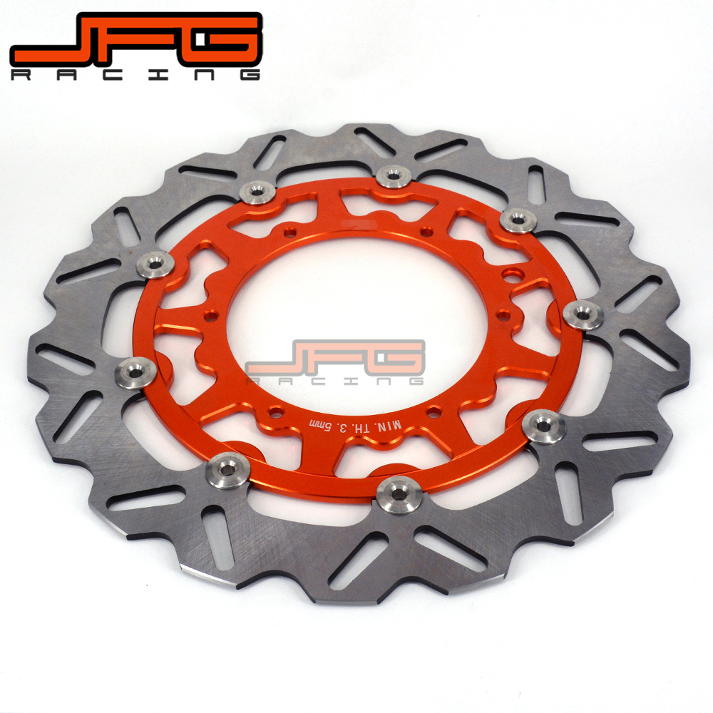 320MM Oversize Front Floating Brake Disc Rotor For KTM EXC GS EXCF SX SXF SXS XC XCR XCW XCF XCRF MXC MX SMR SIX DAYS Supermoto orange 120l chain front rear sprockets set for ktm exc excf sx sxf sxs xc xcw xcf xcfw mx mxc lc4 smr six days motocross enduro