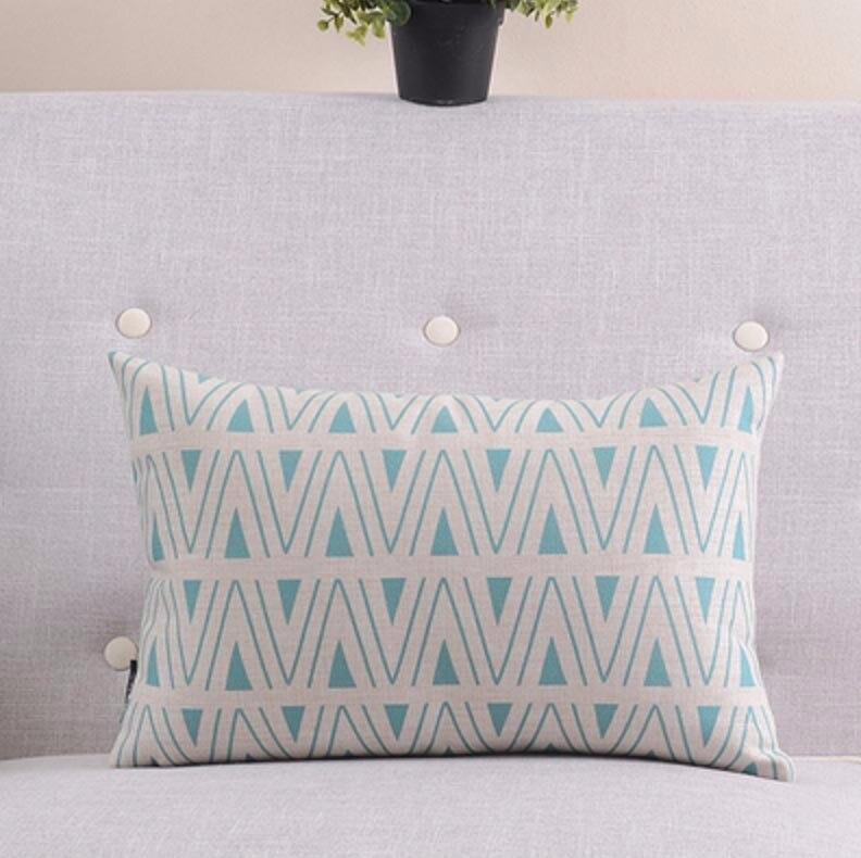 """Синяя нордическая оранжевая Геометрическая Подушка/almofadas чехол кресло кровать, подушка """"Морская"""" крышка, декоративные подушки"""