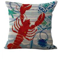Creative Cartoon Deep Sea Creatures Cotton Pillow Cushion And Washable Waist Pillow Cute Seat Cushion