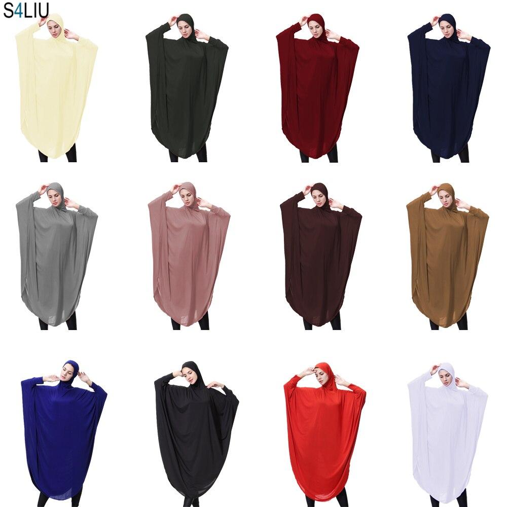 Muslim Face Cover Niqab Burqa Beanie Islamic Khimar Long Hijab Buckle Scarf Jilbab Prayer Garment Clothes Scarf Abaya Ramadan