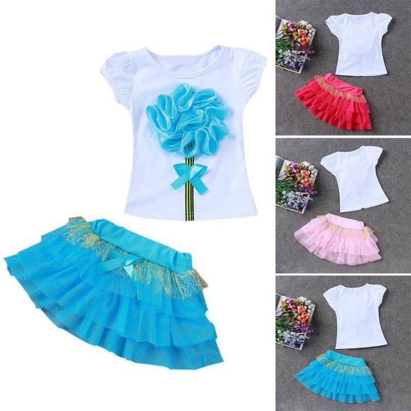 Tammy Ada Children Clothes Summer Kids Girls Clothes Set T -4685