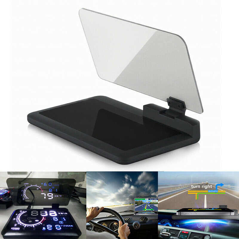GPS Phone Holder Projector HUD Head Up Display Smart Mount Holder Non Slip Mat