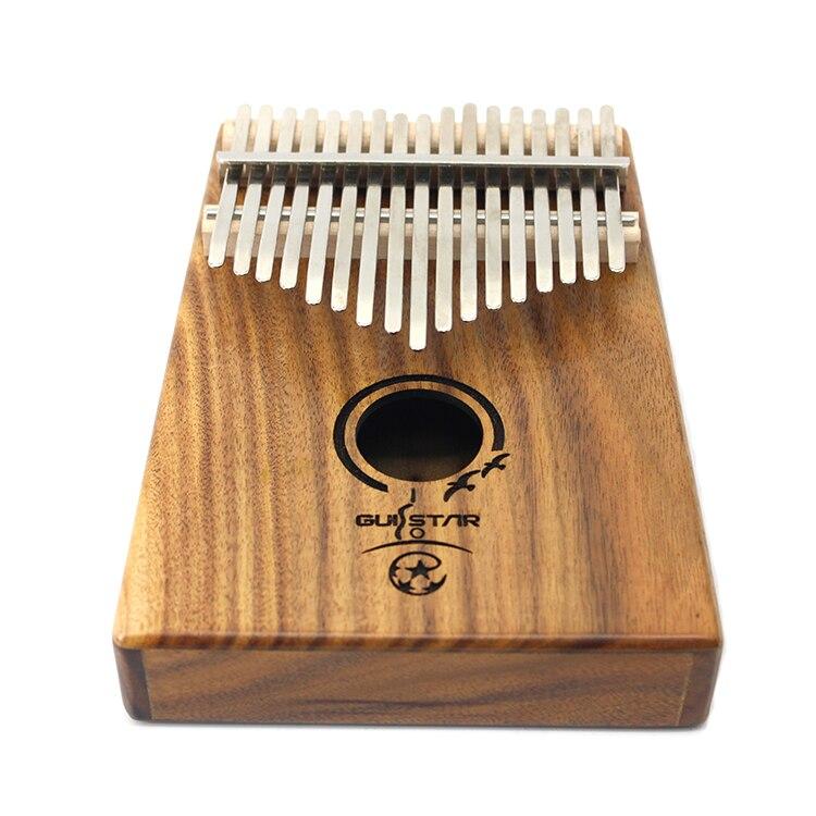 Tongling 17 Sleutel Vinger Kalimba Acacia Mbira Sanza Duim Piano Massief Hout Vinger met Carry - 2