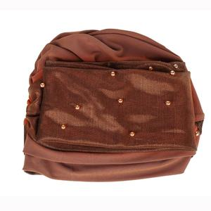 Image 5 - Muslim Women Beads Hijab Elastic Turban Hat Chemo Cancer Cap Arab Head Scarf Wrap Cover Headscarf Islamic Bandanas Accessories