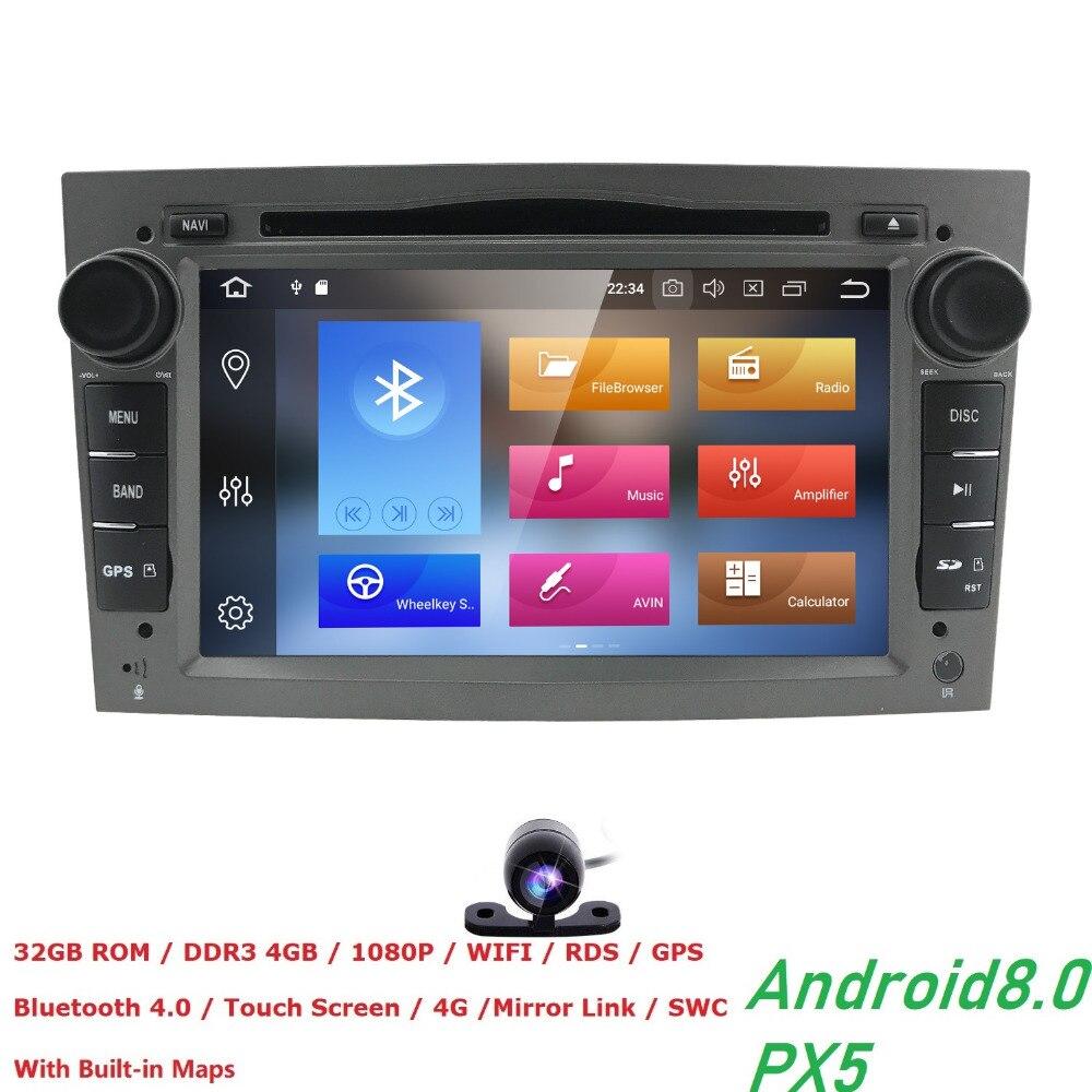 Android 8,0 2 Din радио автомобиля DVD плеер для Opel Vectra C b Corsa D C мультимедиа zafira b k astra H G J navigationMeriva gps Wi-Fi