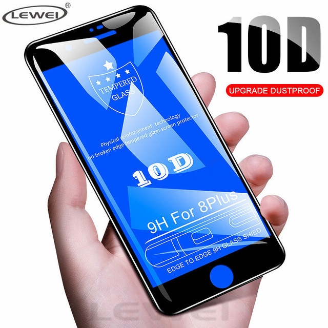 10D Full Cover Protection Glass on the For iPhone 7 Glass iPhone XR XS Max Tempered Glass For iPhone X 8 6 Plus Screen Protector