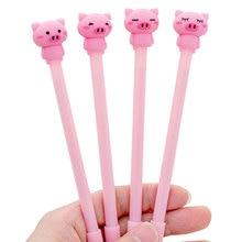Cute cartoon Pink pig Gel Pen kawaii stationery School Supplies Office writting pens paperlaria