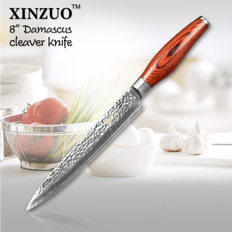 XINZUO 73 layers 8 cleaver font b knife b font Japan Damascus steel kitchen font b