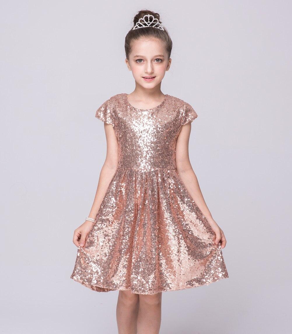 Rodilla niños azul Rosa rosado Bling party Vestidos ropa Vestidos 2 ...