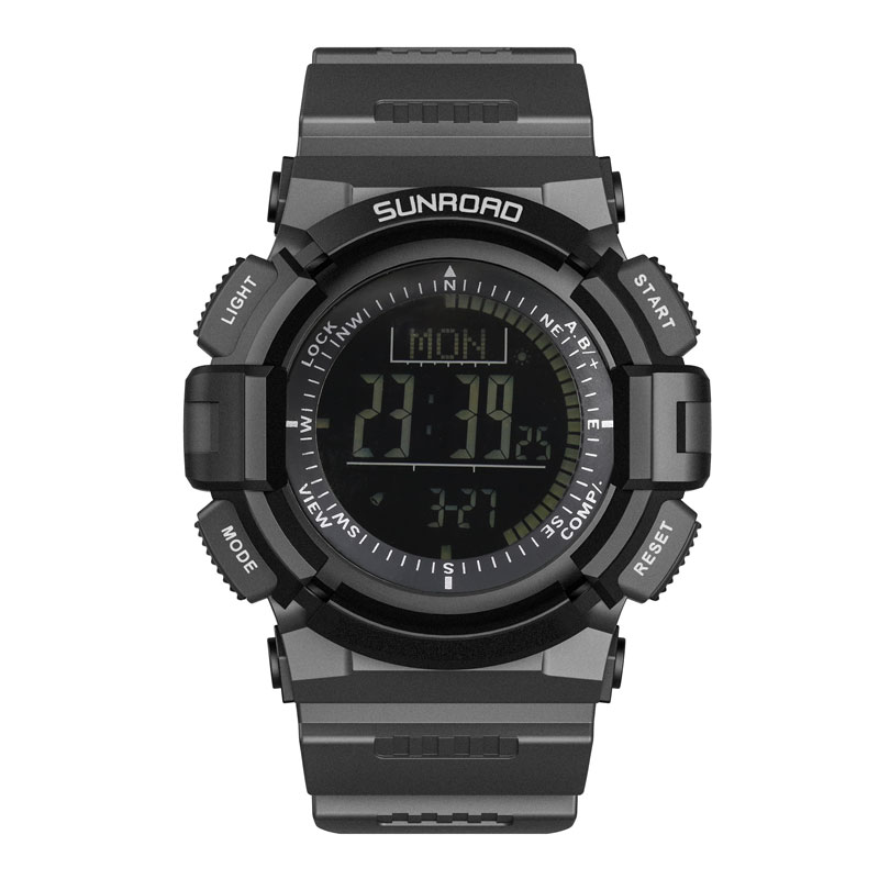 цена на SUNROAD FR821B Digital Sports Men&Women Watch Altimeter Pedometer Step Counter Pedometer Outdoor Sports Original Wrist Watches