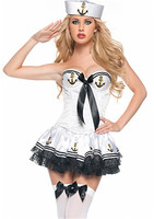Women Sailor Costume Sexy Women Police Uniform For Halloween Party Performance