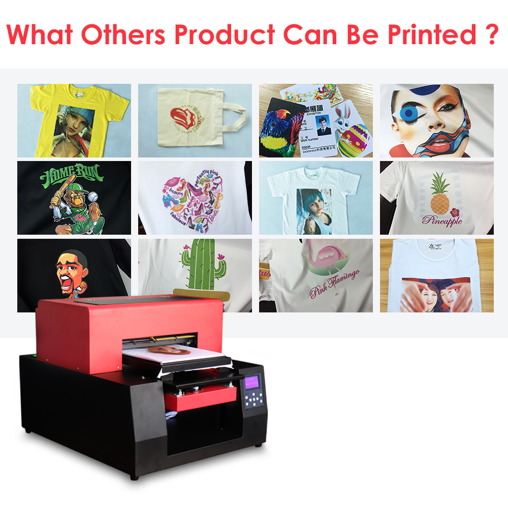Automatic T-shirt Flatbed Printer A3 Size Print Machine for Cotton - Office Electronics - Photo 5