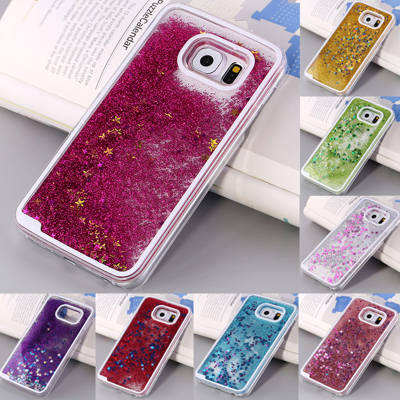 check out e85fb 5f48c US $4.0 |Newest Transparent Colorful Glitter Phone Case for Samsung Galaxy  S6 Case Moving Sand Star Liquid Dynamic Hard Back Cover for S6 on ...