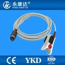 Многоразовые Шиллер SpO2 датчик для взрослых Фигнер клип, модуля Масимо, 7pin/3 м