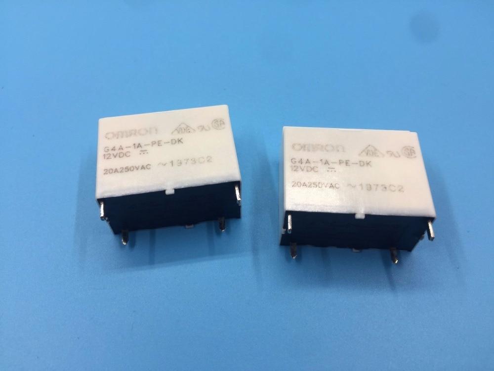 Free Shipping 10pcs/lot 100% new original relay G4A-1A-PE-DK 12VDC G4A-1A-PE-DK-12VDC DC12V 20A 250VAC 4PIN hot new relay g8qe 1a 12vdc g8qe 1a 12vdc g8qe1a 12vdc dc12v 12v dip6 5pcs lot
