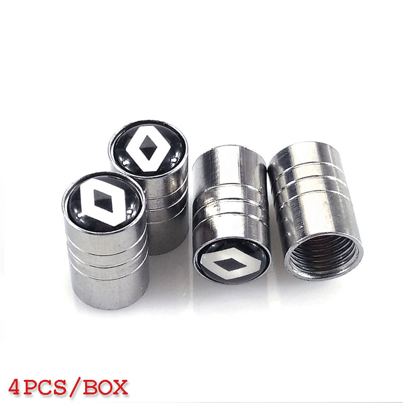 Car styling Wheel Tire Valves Tyre Stem Air Caps Cover case For RENAULT duster megane 2 logan clio Stainless Steel Car-styling