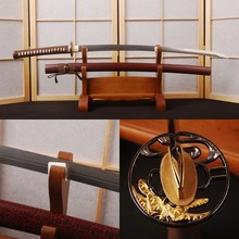 Unokubitsukuri Shape Folded Steel Sharp Blade Katana Full Tang Battle Ready Japanese Samurai Sword Vintage Home Collectible Dec