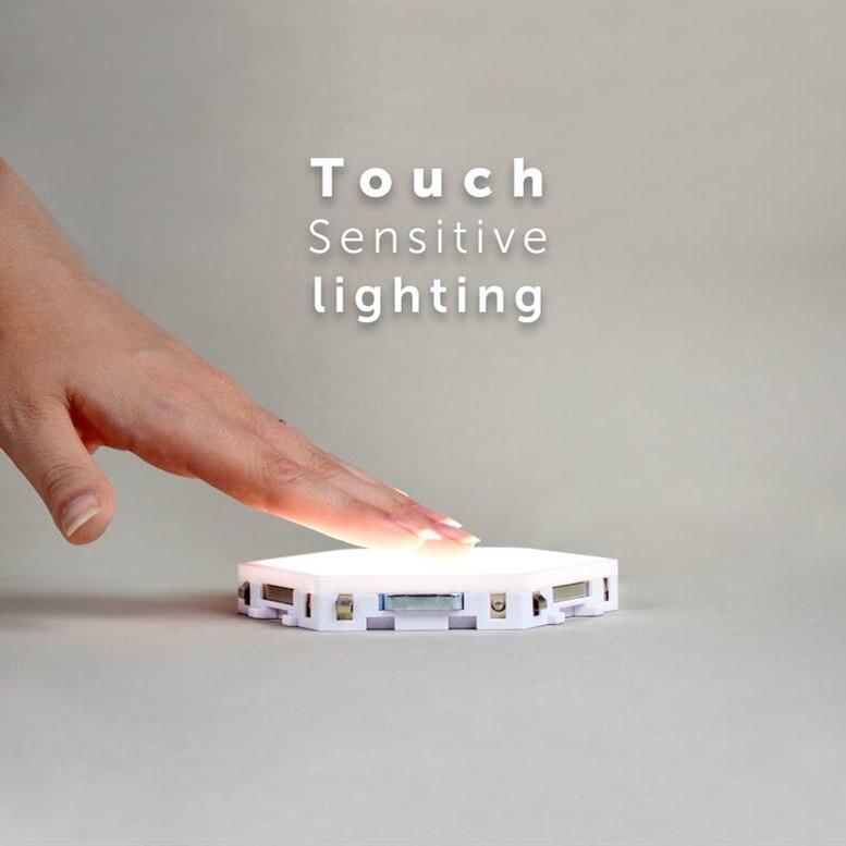 Квантовая лампа, светодиодные шестиугольные лампы, модульное Сенсорное освещение, ночник, магнитный Шестигранник, креативное украшение, на... - 3