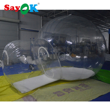3m Outdoor PVC inflatable bubble camping tent, inflatable transparent tent with tunnel sale