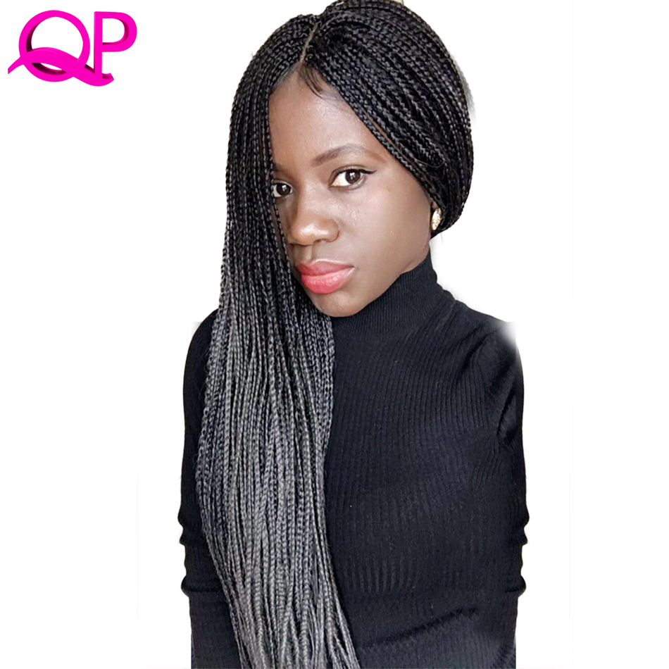 Qp Hair Green Ombre Kanekalon Braiding Hair 24 Inch Jumbo Braids Black Green Braid Synthetic Extensions Crochet Twist Hair 10pcs Hair Braids