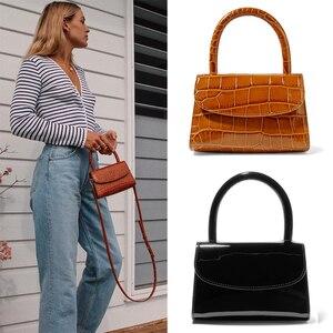 Image 1 - Bolsa Feminina Fashion Alligator Top handle Handbag Designer Women Crossbody Bag Mini Shoulder Messenger Bags for Women 2019 Sac