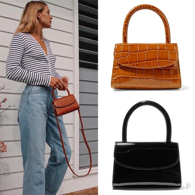 Bolsa Feminina Fashion Alligator Top handle Handbag Designer Women Crossbody Bag Mini Shoulder Messenger Bags for Women 2019 Sac