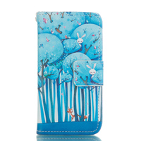 Housse Cases For IPhone 5C Leather Case Cell Phone Cover Wallet Crad Slot Flip Stand Case