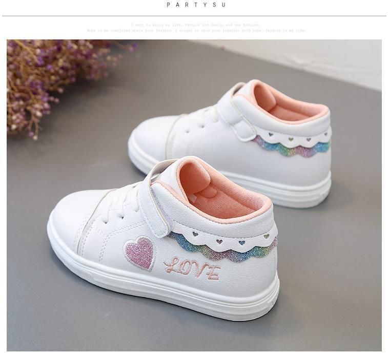 b26e2684 Zapatos deportivos de suela de goma antideslizante transpirables para niños  y niñas de Primavera de otoño HaoChengJiaDe 26-36