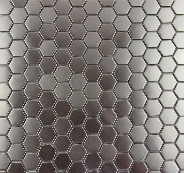 Hexagon edelstahl metall mosaik fliesen küche backsplash badezimmer ...