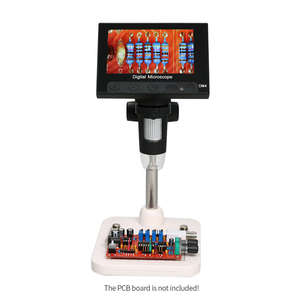 Image 3 - Usb Microscopio Elettronico Digitale 1000x2.0mp Dm4 Display Lcd Da 4.3 Pollici Vga Microscopio Stand Con 8 Led Per pcb Circuito di Motherb