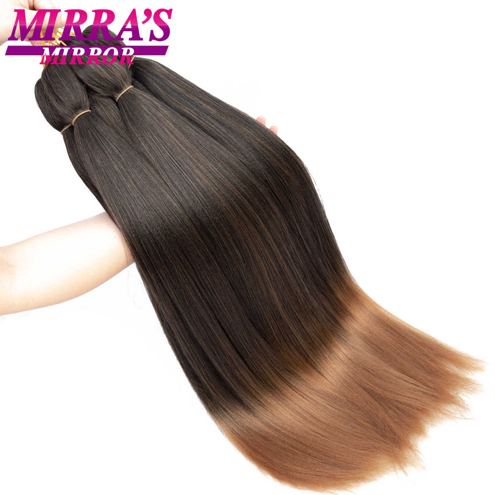 "Mirra's Mirror Jumbo Braids Hair 20""26"" T1B/Brown Synthetic Braiding Hair Ombre Crochet Braids Pre Stretched Hair Extensions"