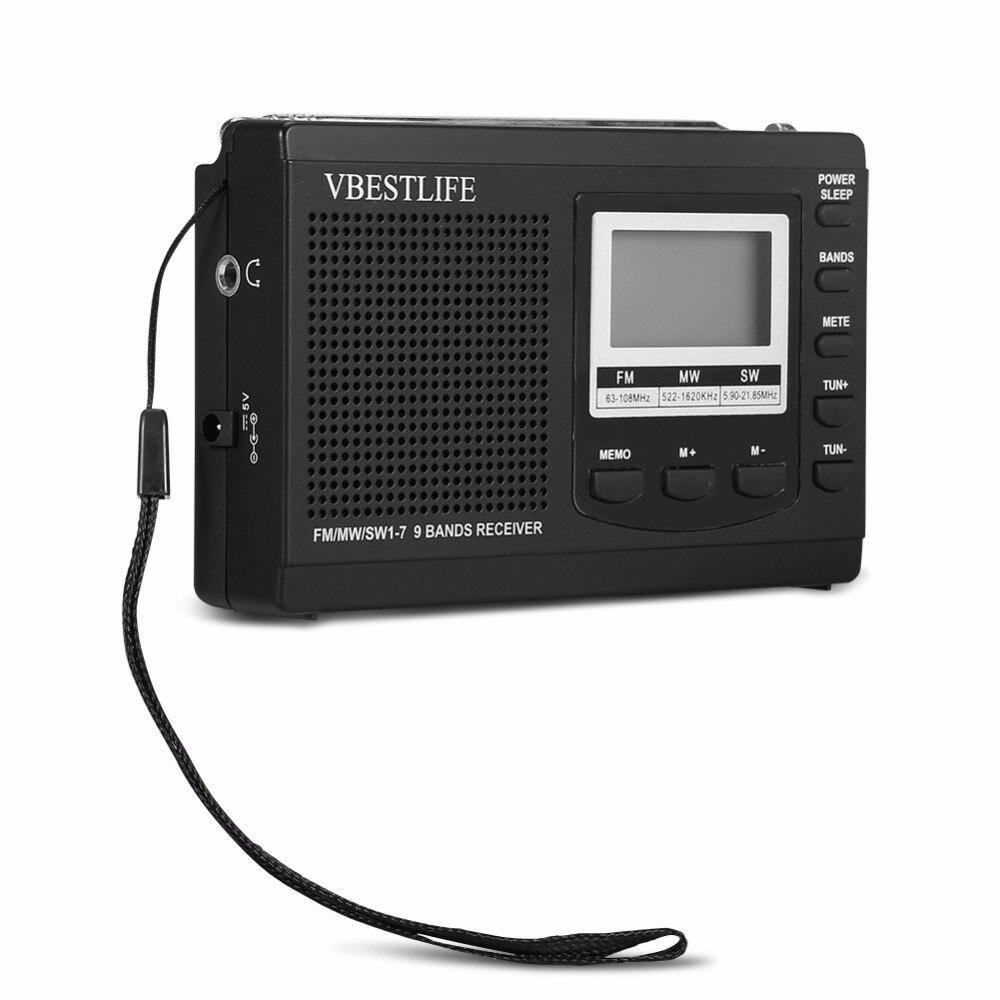 Unterhaltungselektronik Tragbare Mini-radio Dsp Fm/mw/sw Empfänger Notfall Radio Mit Digital Wecker Fm Radio Antenne Fm Empfänger Kostenloser Versand