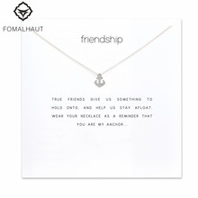 Sparkling friendship Anchor Pendant necklace Clavicle Chains Fashion Statement Necklace For Women FOMALHAUT Jewelry F-5