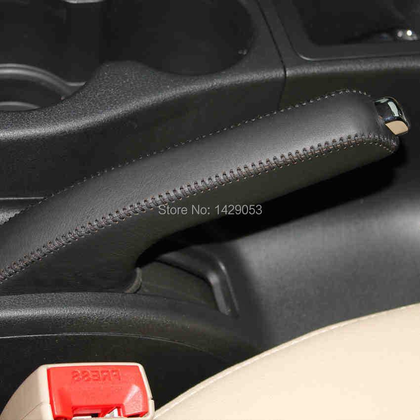 Case For Nissan Qashqai Handbrake Cover DIY Car Styling Genuine Leather Handbrake Grips Auto Supplies  Interior Decoration