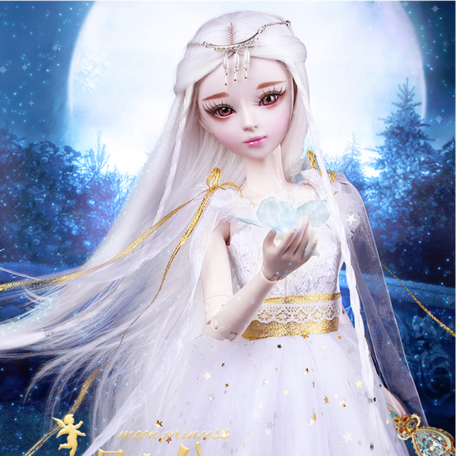 60CM Handmade Bjd 1 3 Princess Dolls with Wig Clothes Large 23 Jointed Articulated Doll Girls