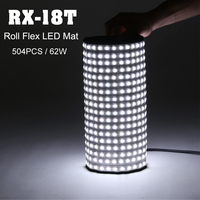 Falconeyes 62W Photo Waterproof Light Portable LED 5600K Photo Light 504pcs Flexible Roll LED Photography Lamp RX 18T