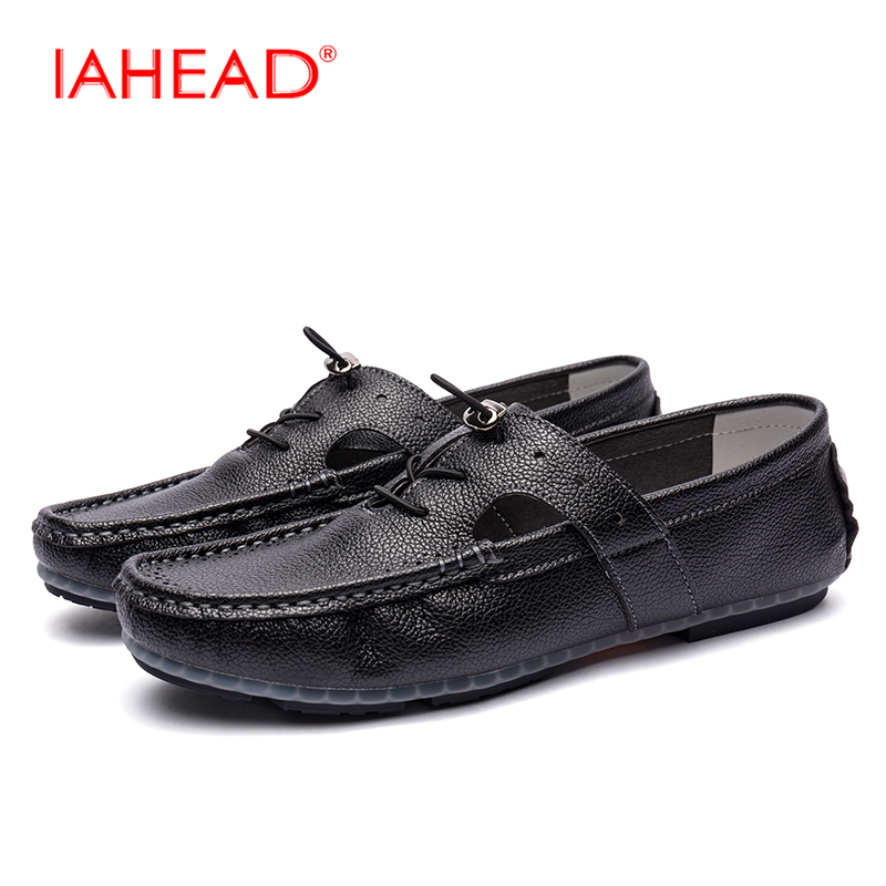 Summer Hollow  Genuine Leather Loafers Shoes Men  Breathable Casual Men Shoes Fashion Men Driving Shoes Black White Shoes MQ521 genuine leather men casual shoes summer loafers breathable soft driving men s handmade chaussure homme net surface party loafers