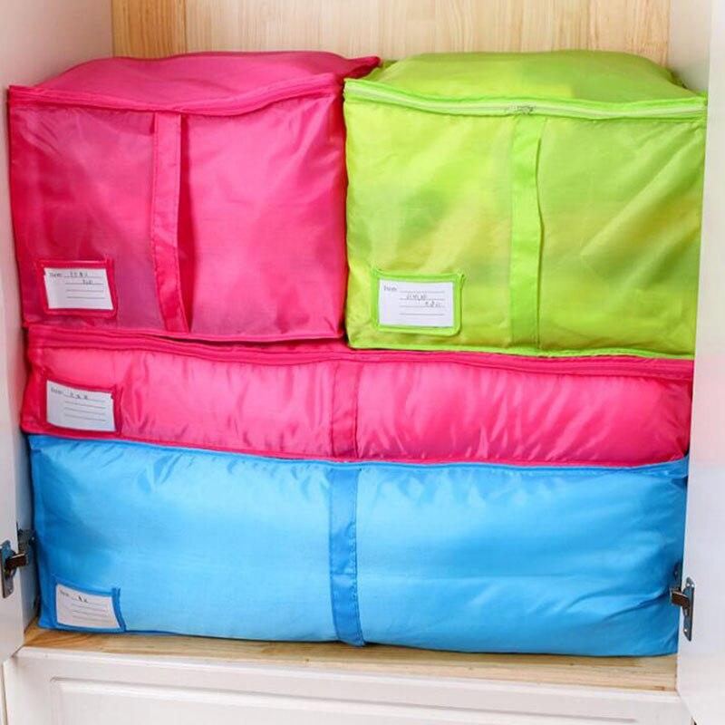 Hot Sale Home Storage Bag Clothes Quilt Bedding Duvet Zipped Handles Laundry Polyester Pillows Storage Bag Box dřevěné dekorace do dětského pokoje