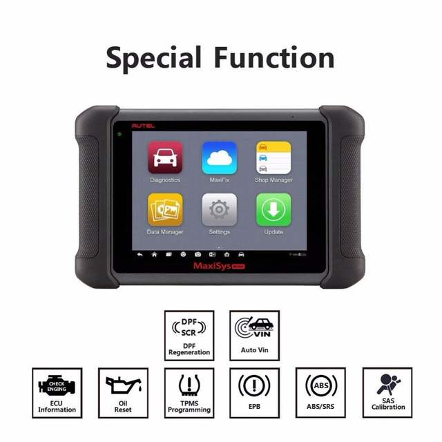 AUTEL MaxiSys MS906 Diagnostic Tool Code Reader ECU Coding ABS Bleeding  DS808 Key Fob Programming OBD2 Scanner as AL319 for Gift