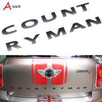 10 шт. 3D из металла сзади для BMW MINI Countryman R60 Mini Cooper аксессуары F60 эмблема логотип Наклейки для автомобиля автомобиль Стайлинг