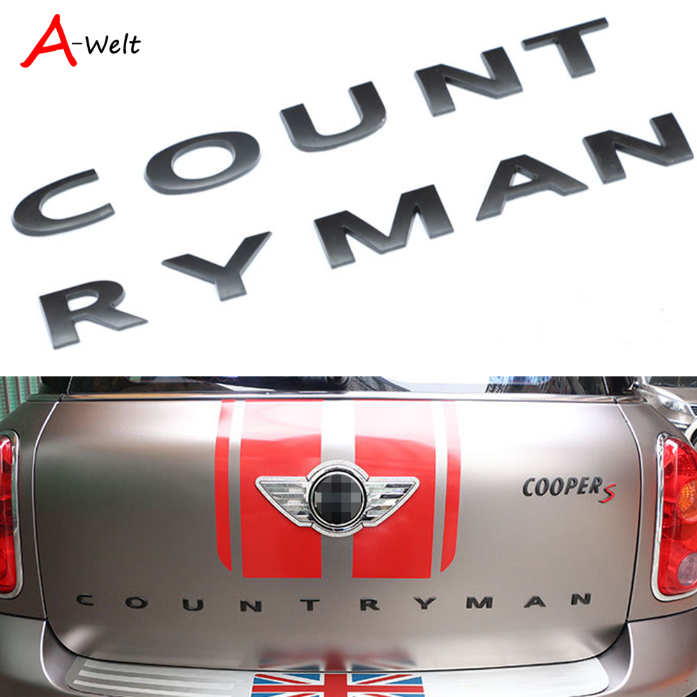 10pcs 3D Metal Rear For BMW Mini Countryman R60 MINI Cooper mini cooper accessories F60 Emblem Logo Car Stickers car-styling carking grid pattern abs uv protected door handle cover for mini cooper countryman 4 pcs