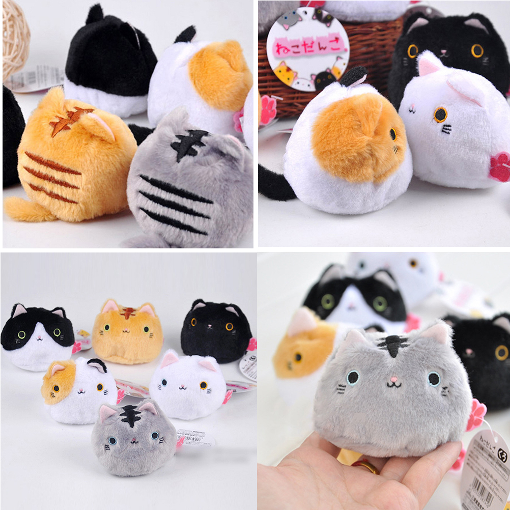 Kawaii Lovely Cute Cats Stuffed TOY Keychain Cat Gift DOLL Kid's Party Birthday Plush Toys 7CM 6colors