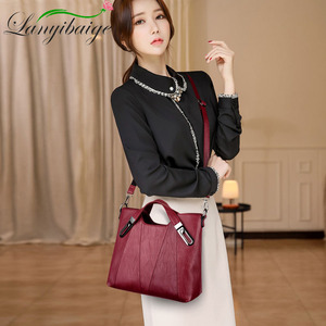 Image 4 - 2020 NEW Women Shoulder Messenger Bag Luxury Leather Handbags Women Bags Designer Famous Brand Female Crossbody Bags Sac A Main