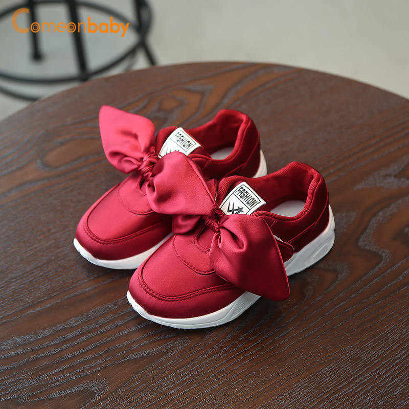 2019 Spring Summer Baby Shoes Girl Princess Big Bow Soft Soled Flats Anti-Slip  Kids 02b7934d6a9f