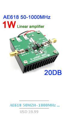 DYKB AD8307 1MHz -500MHz Broadband RF detector RF power meter Field  strength meter for Ham Radio amplifier