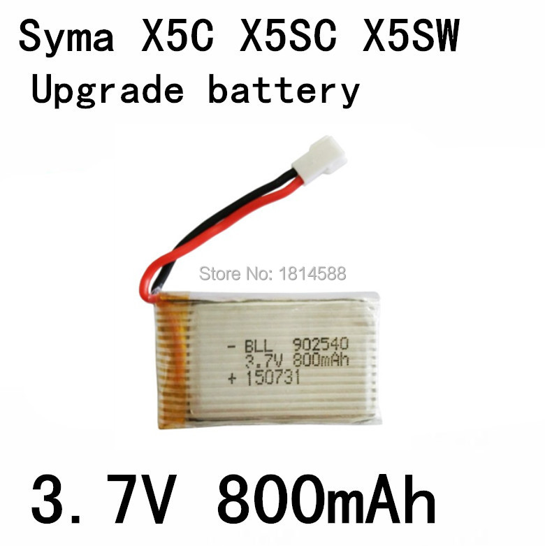 1PCS Fast Charging 800mAh Battery For Syma X5 X5C X5SW X5C-1 V931 H5C CX-30 CX-30W Quadcopter Spare Parts With 3.7V X5C Battery