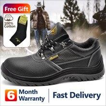 Safetoe бренд S3 рабочая обувь со стальным носком для мужчины анти-удар коженная спецобувь